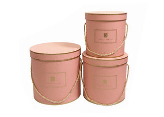 Porcellana Round Paper Florist Hat Boxes , Luxury Cylindrical Flower Packaging Boxes fornitore